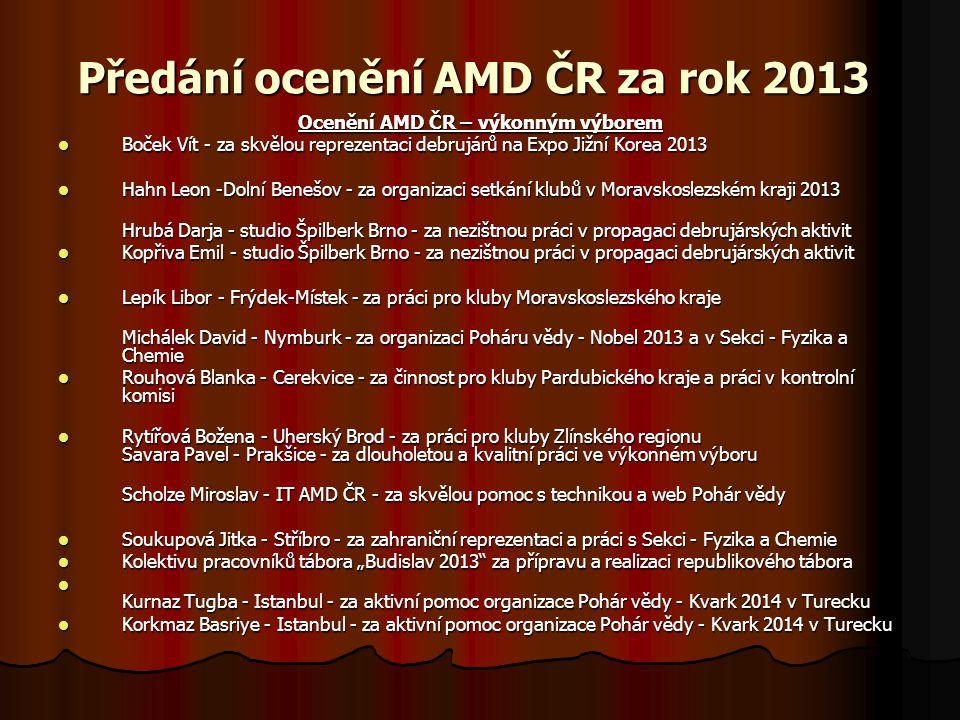 Předání ocenění AMD ČR za rok 2013