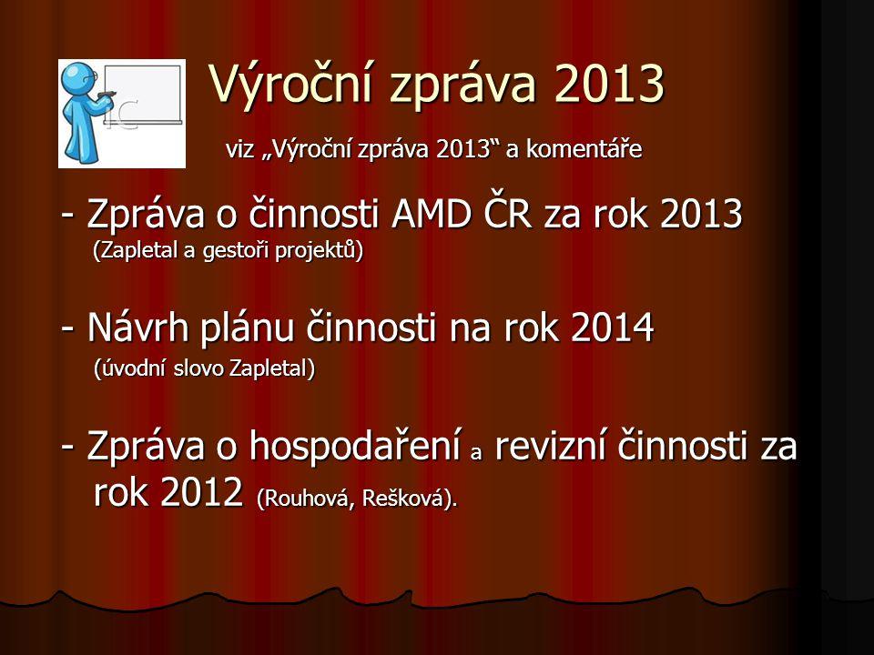 """viz """"Výroční zpráva 2013 a komentáře"""