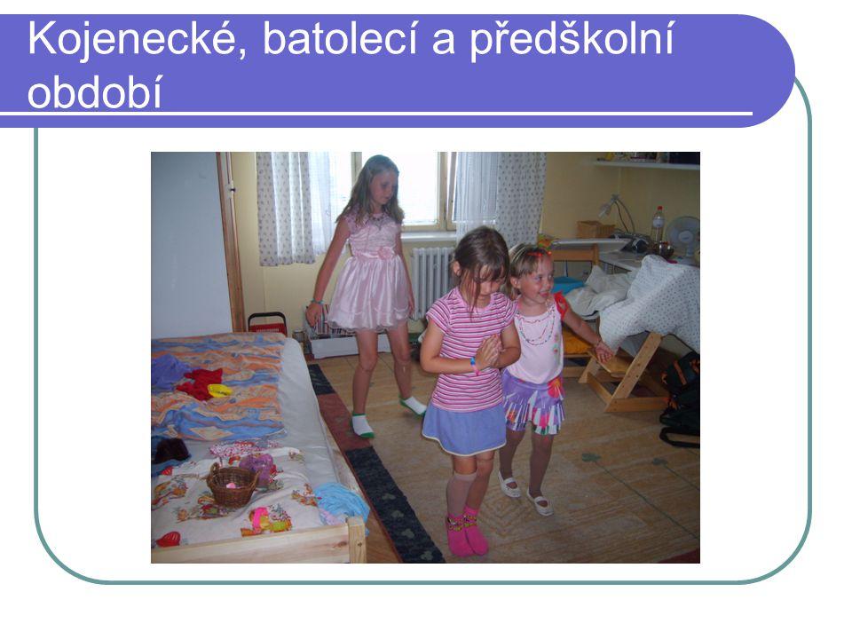 Kojenecké, batolecí a předškolní období