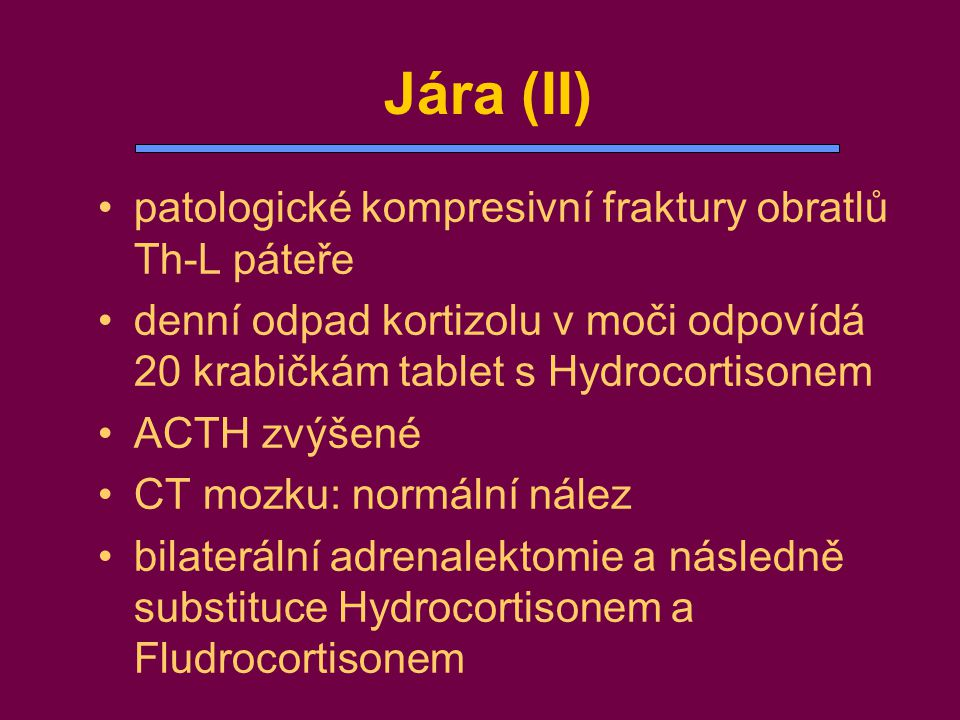 Jára (II) patologické kompresivní fraktury obratlů Th-L páteře