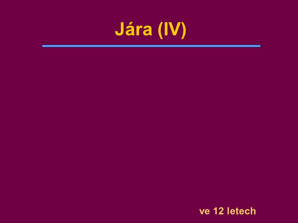 Jára (IV) ve 12 letech