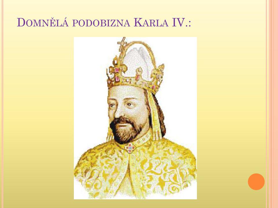Domnělá podobizna Karla IV.:
