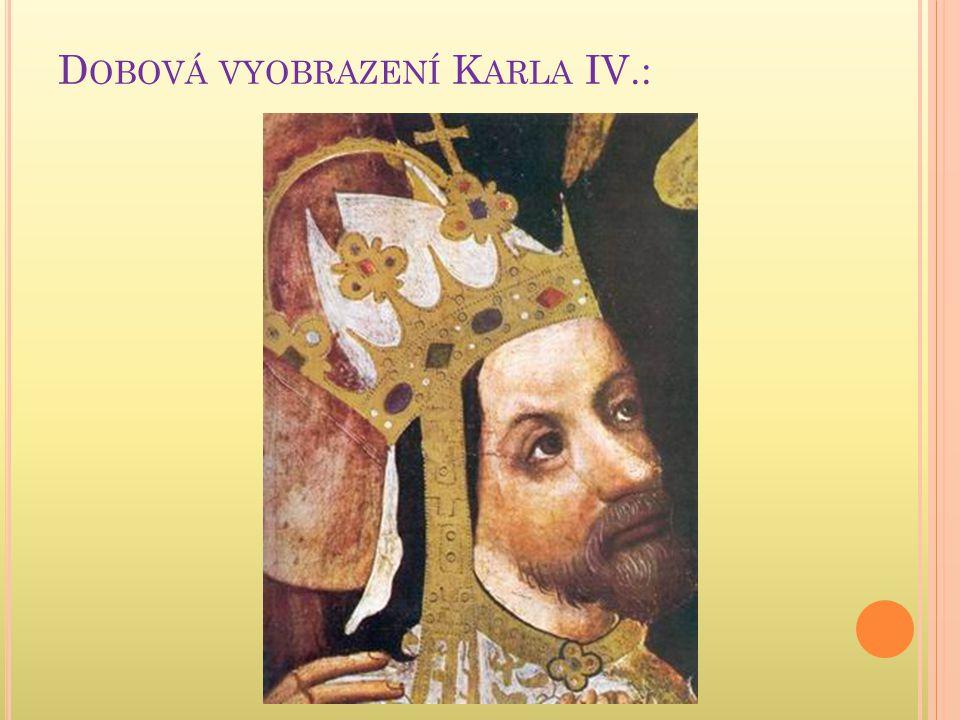 Dobová vyobrazení Karla IV.: