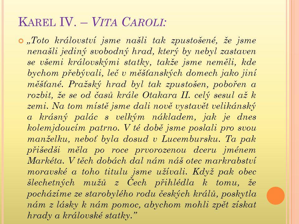 Karel IV. – Vita Caroli: