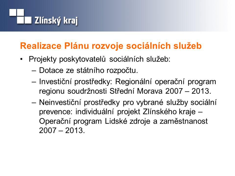 Realizace Plánu rozvoje sociálních služeb
