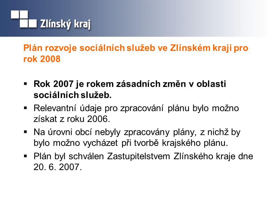 Plán rozvoje sociálních služeb ve Zlínském kraji pro rok 2008