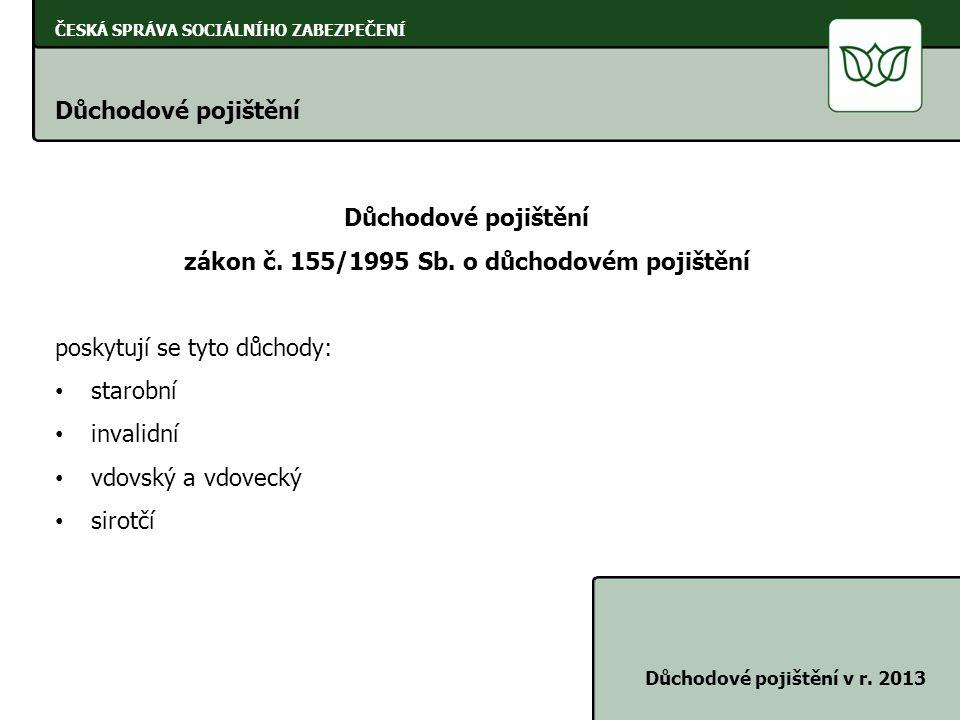 zákon č. 155/1995 Sb. o důchodovém pojištění
