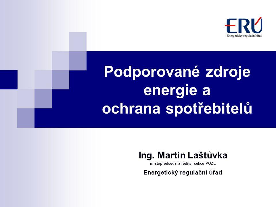 Podporované zdroje energie a ochrana spotřebitelů
