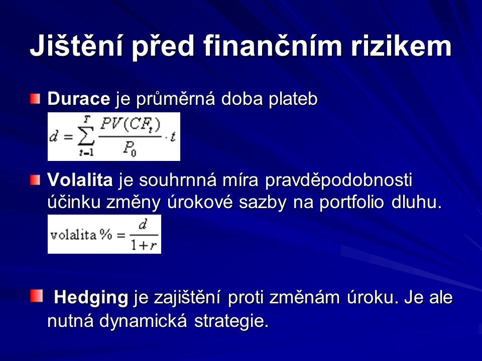 Jištění před finančním rizikem