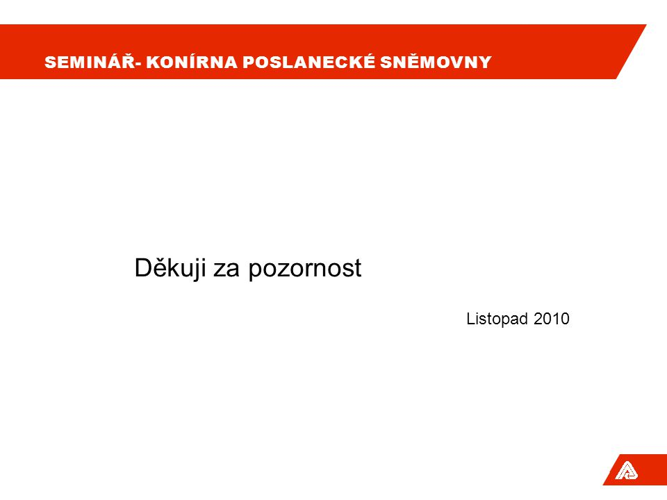 Seminář- Konírna poslanecké sněmovny
