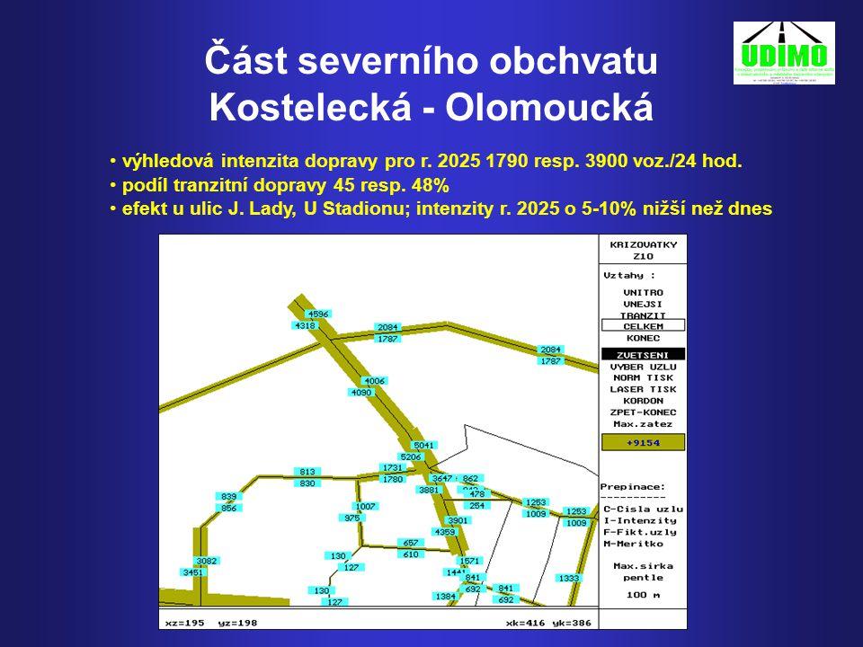 Část severního obchvatu Kostelecká - Olomoucká