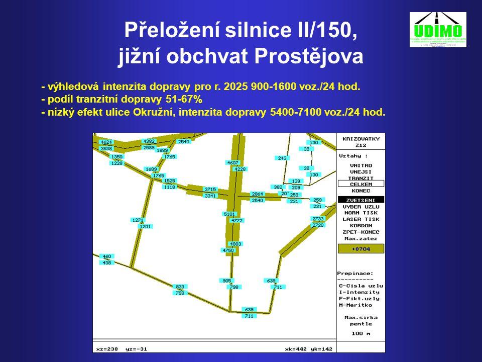 Přeložení silnice II/150, jižní obchvat Prostějova