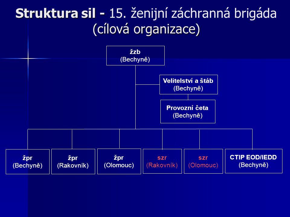 Struktura sil - 15. ženijní záchranná brigáda (cílová organizace)