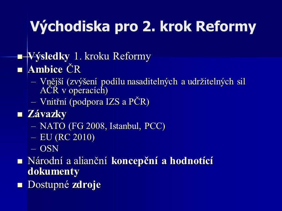 Východiska pro 2. krok Reformy