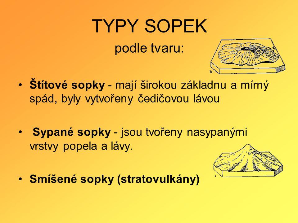 TYPY SOPEK podle tvaru: