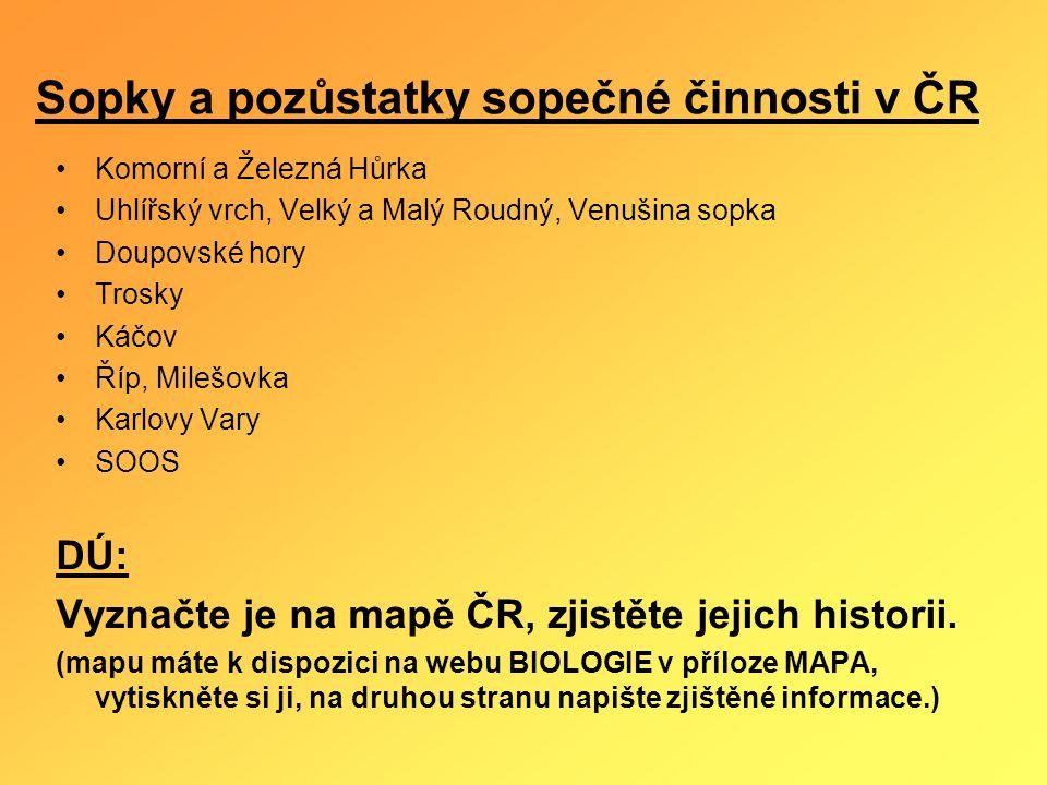 Sopky a pozůstatky sopečné činnosti v ČR