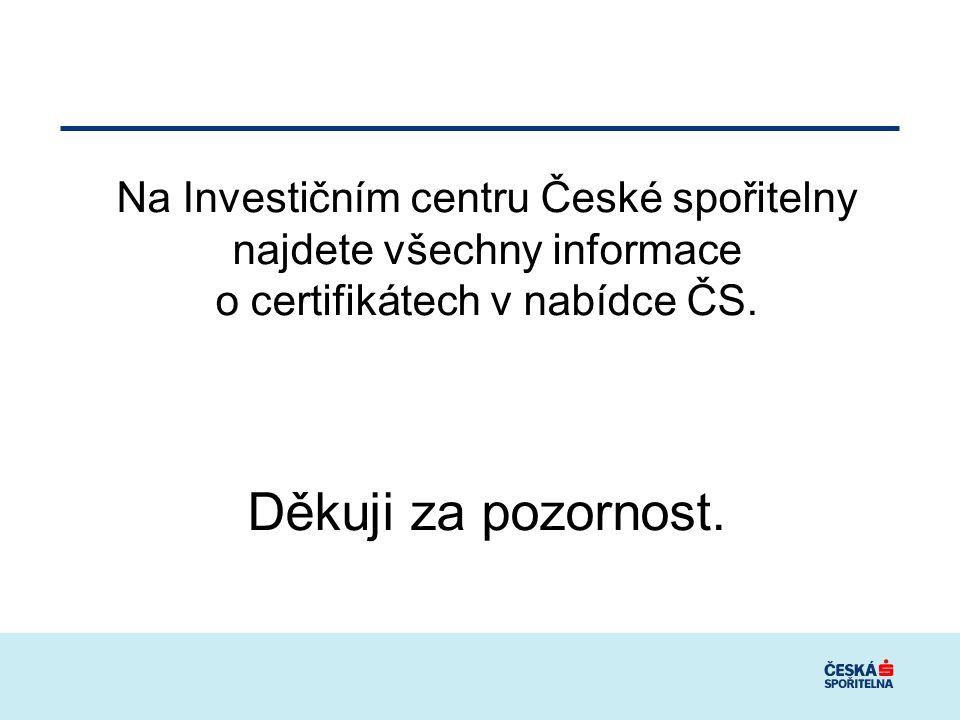 Na Investičním centru České spořitelny najdete všechny informace