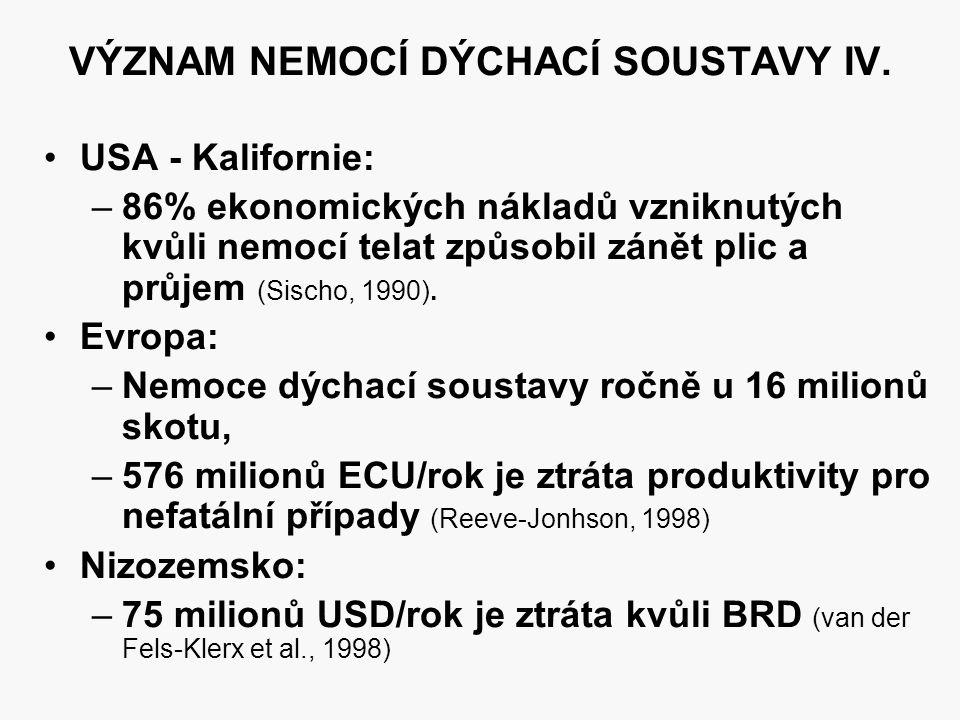 VÝZNAM NEMOCÍ DÝCHACÍ SOUSTAVY IV.