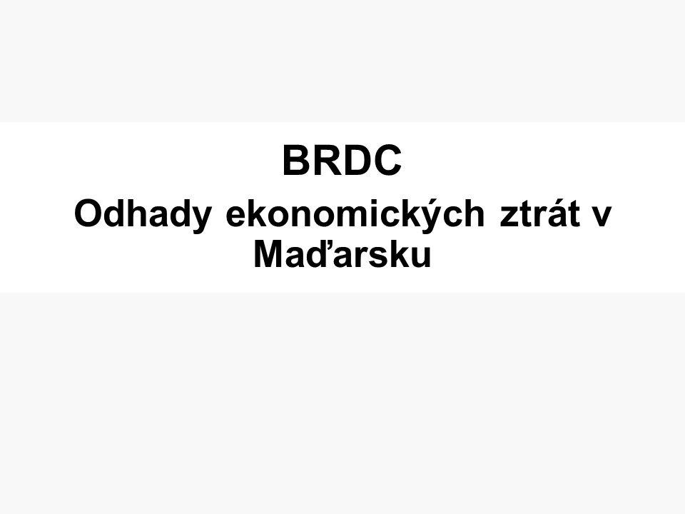 BRDC Odhady ekonomických ztrát v Maďarsku