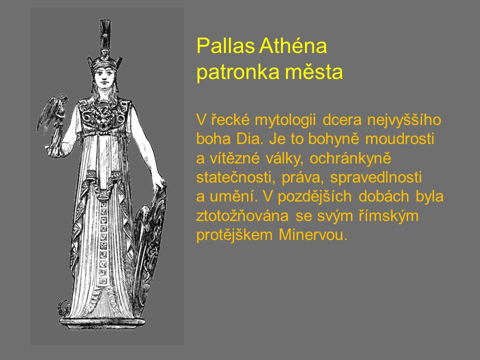 Pallas Athéna patronka města