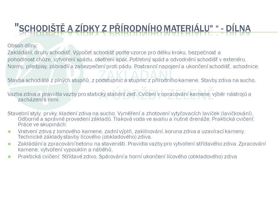 Schodiště a zídky z přírodního materiálu - dílna