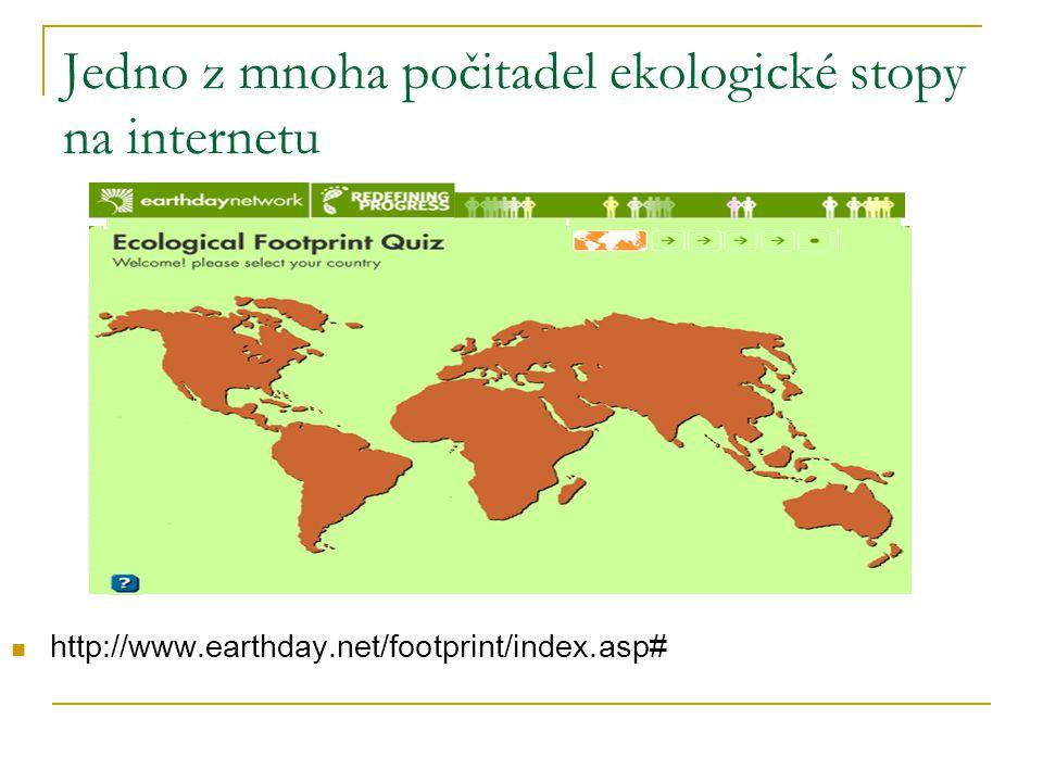 Jedno z mnoha počitadel ekologické stopy na internetu