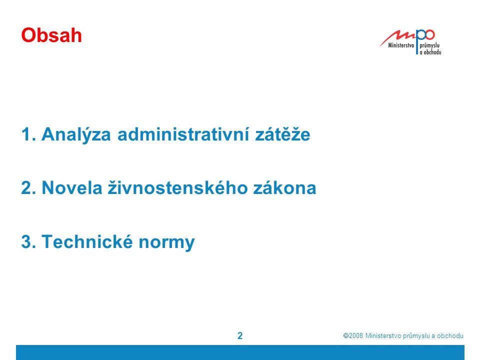 Obsah 1. Analýza administrativní zátěže
