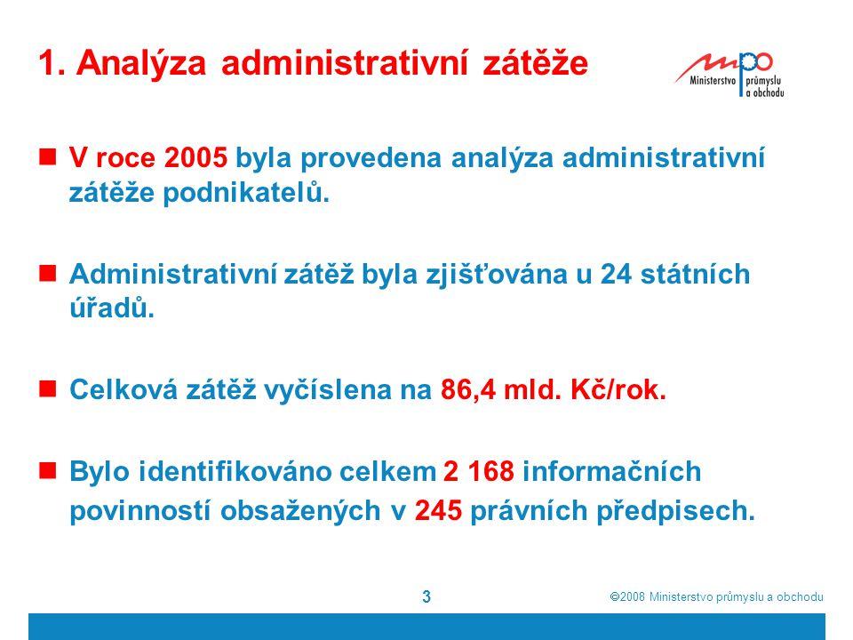 1. Analýza administrativní zátěže