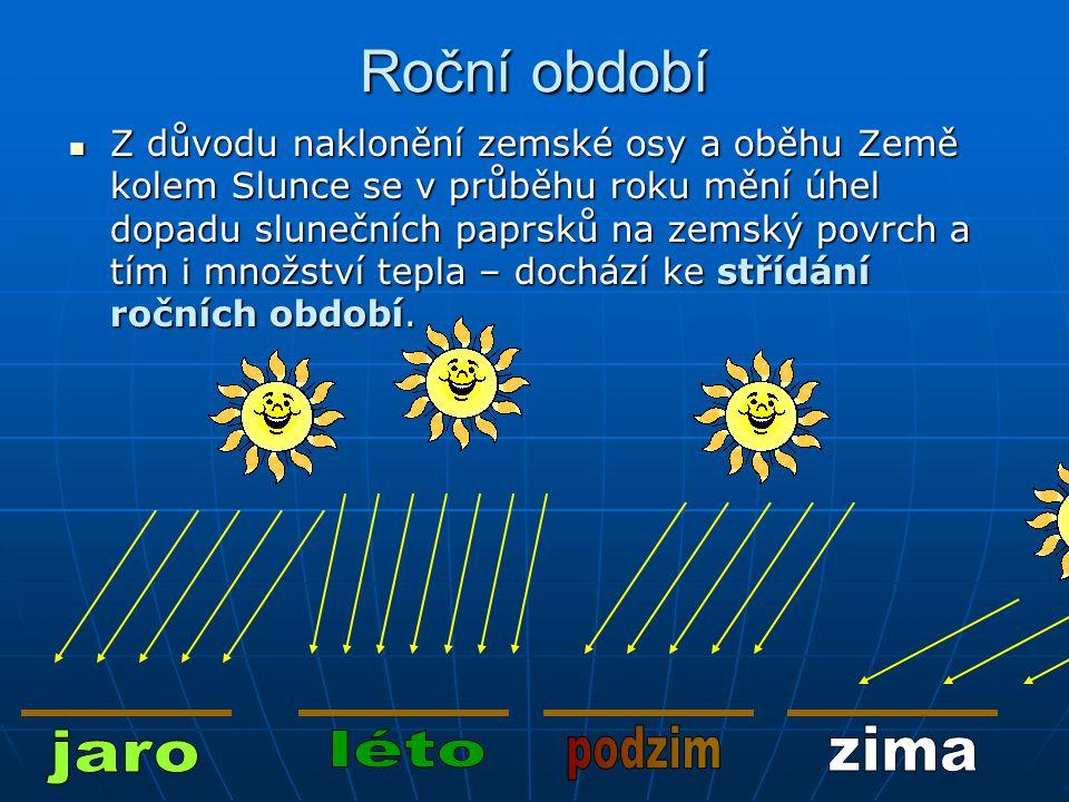 Roční období jaro léto podzim zima