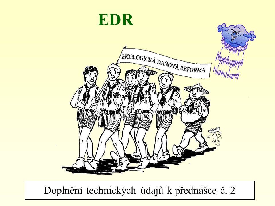Doplnění technických údajů k přednášce č. 2
