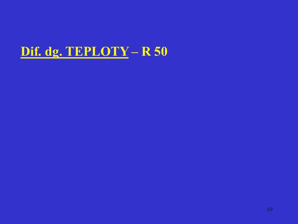 Dif. dg. TEPLOTY – R 50