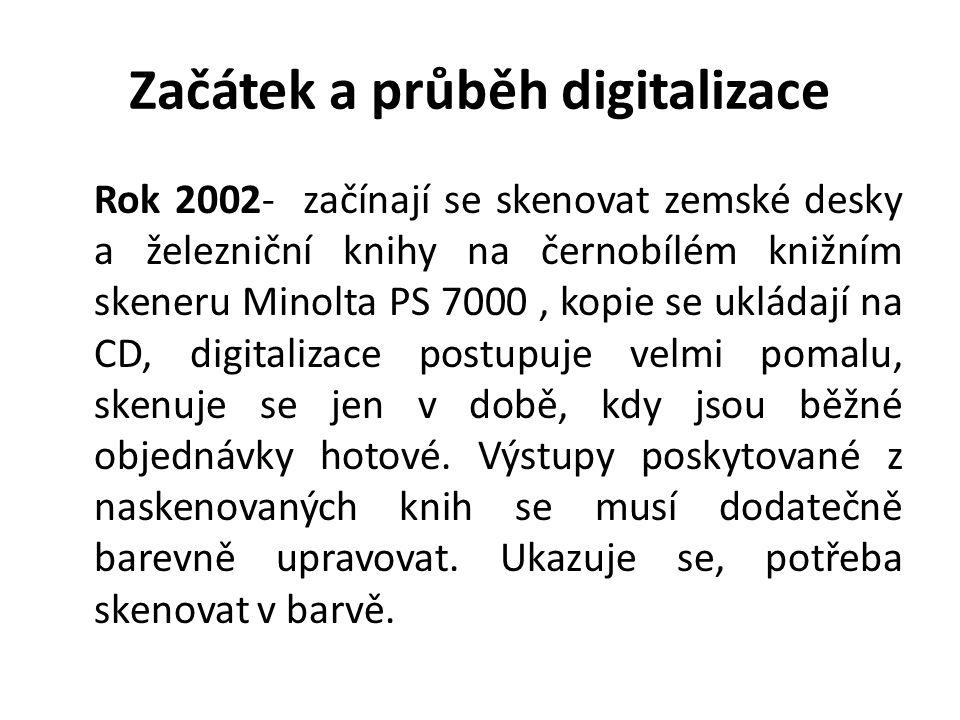 Začátek a průběh digitalizace