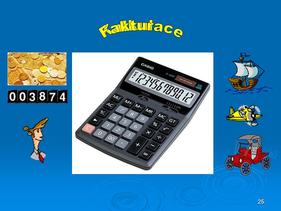 Fakturace Kalkulace