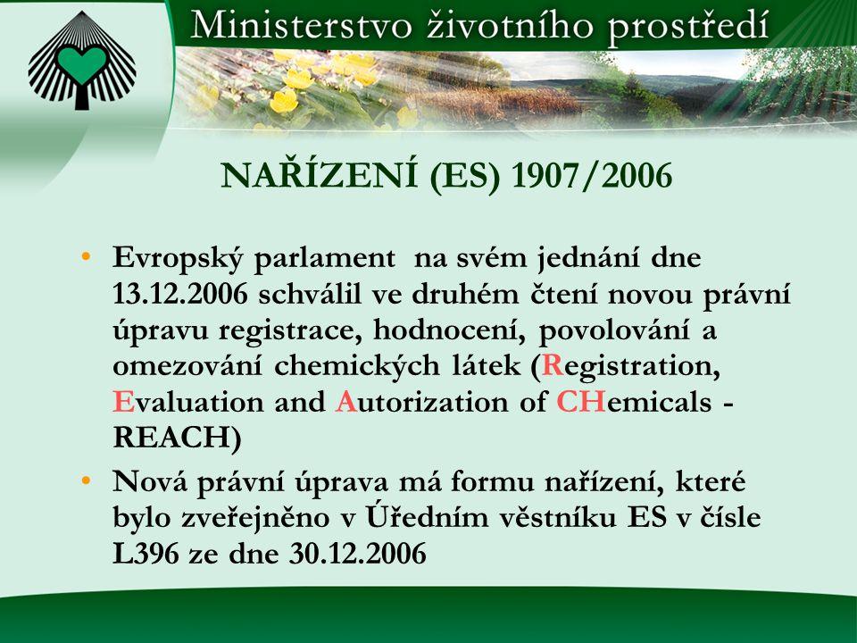 NAŘÍZENÍ (ES) 1907/2006