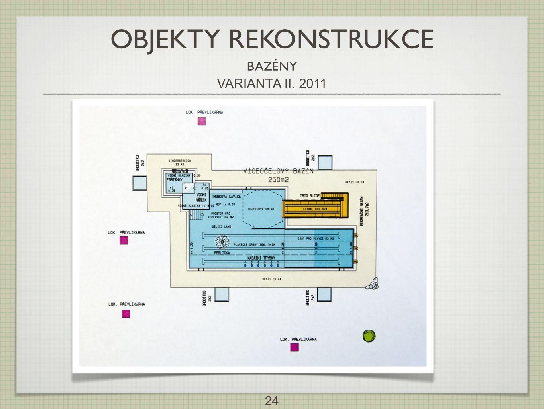 OBJEKTY REKONSTRUKCE BAZÉNY VARIANTA II. 2011