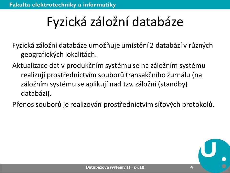 Fyzická záložní databáze