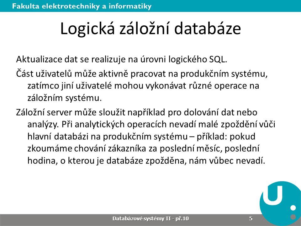 Logická záložní databáze