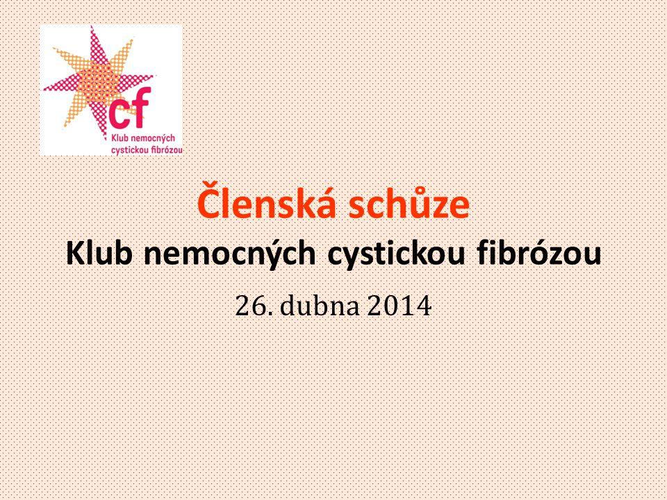 Členská schůze Klub nemocných cystickou fibrózou