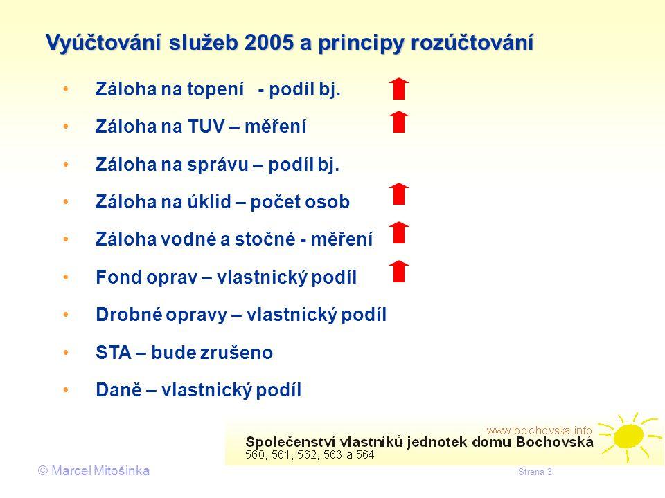 Vyúčtování služeb 2005 a principy rozúčtování