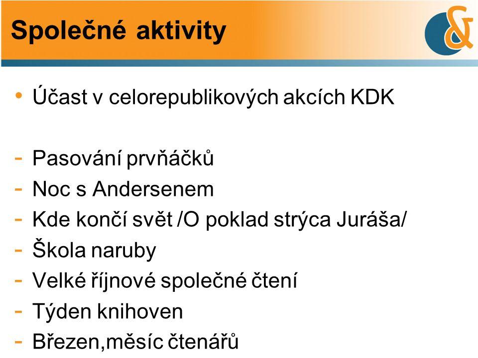 Společné aktivity Účast v celorepublikových akcích KDK