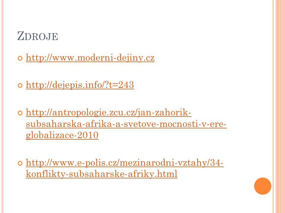 Zdroje http://www.moderni-dejiny.cz http://dejepis.info/ t=243