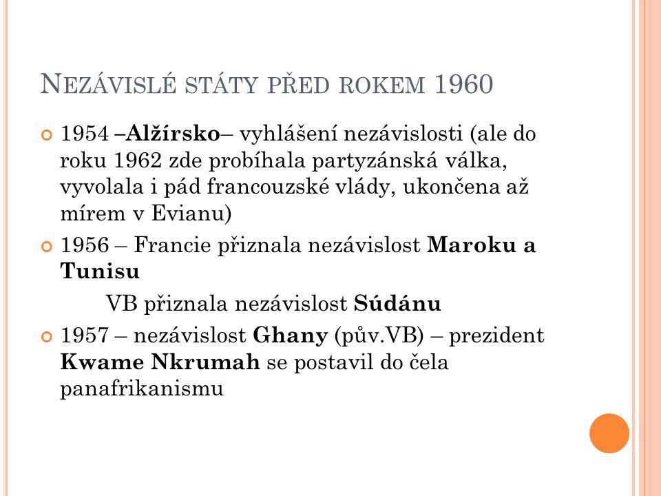 Nezávislé státy před rokem 1960