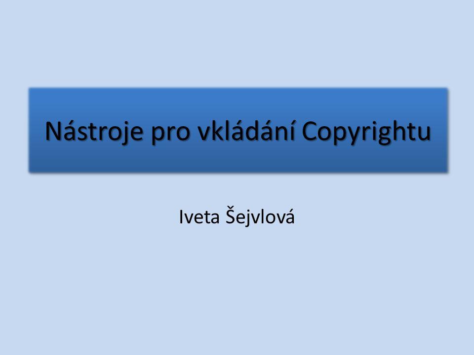 Nástroje pro vkládání Copyrightu