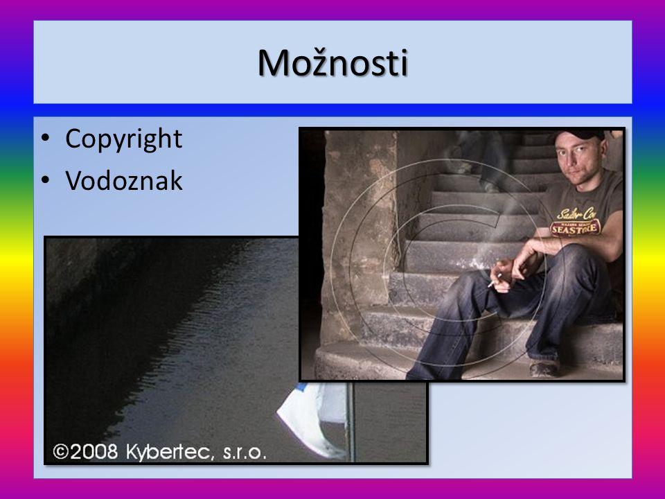 Možnosti Copyright Vodoznak