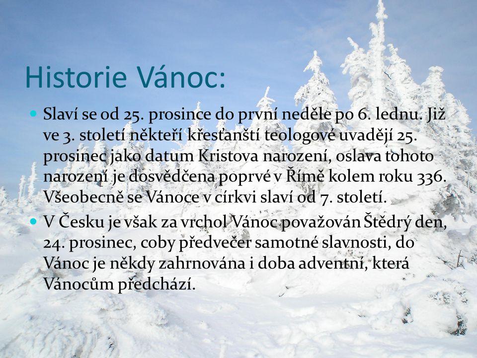 Historie Vánoc: