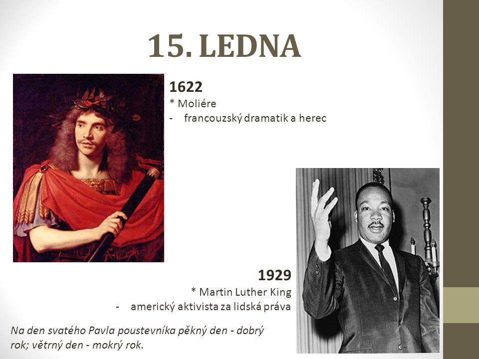 15. LEDNA 1622 1929 * Moliére francouzský dramatik a herec