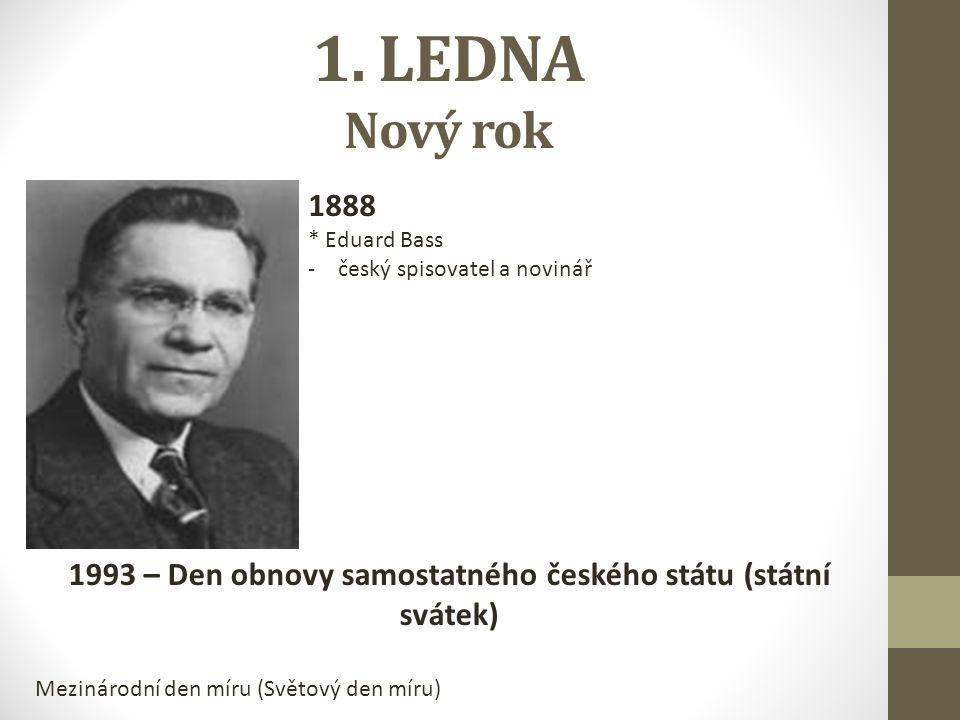 1993 – Den obnovy samostatného českého státu (státní svátek)