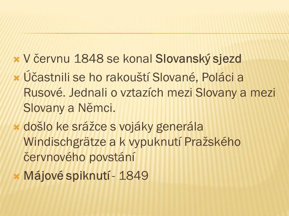 V červnu 1848 se konal Slovanský sjezd