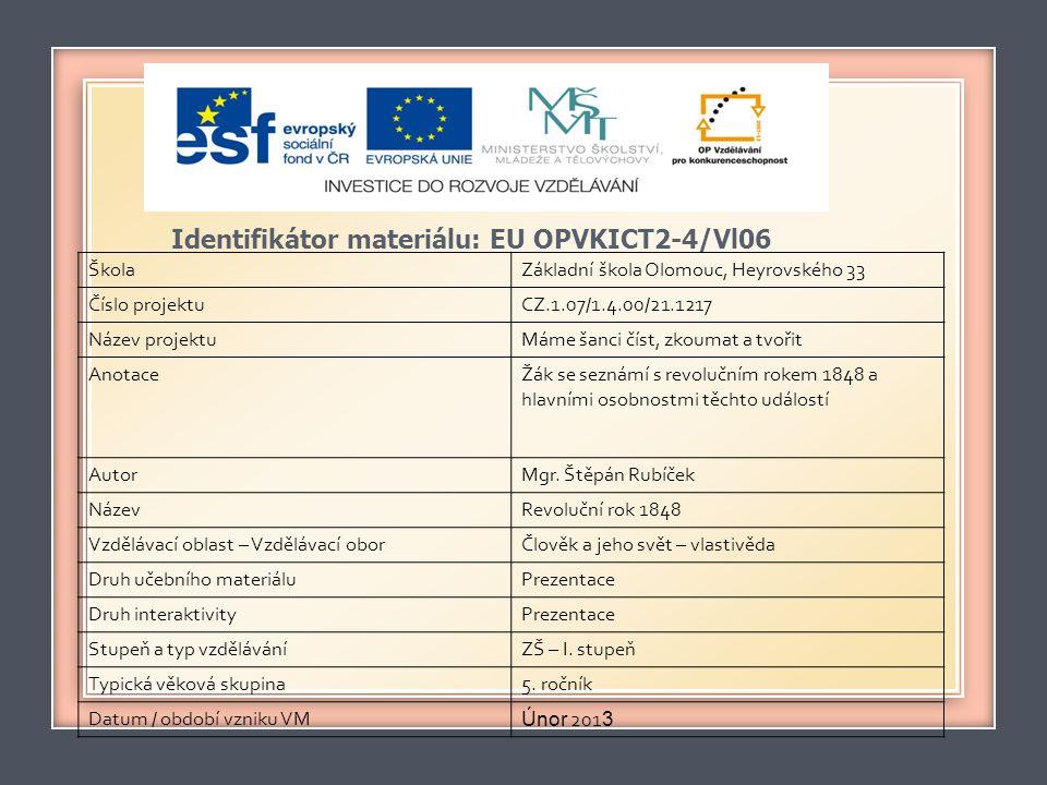Identifikátor materiálu: EU OPVKICT2-4/Vl06