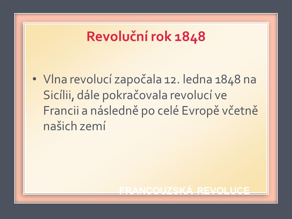 Revoluční rok 1848